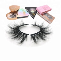 mink eyelashes wholesale with eyelash clear and black band private label lashes