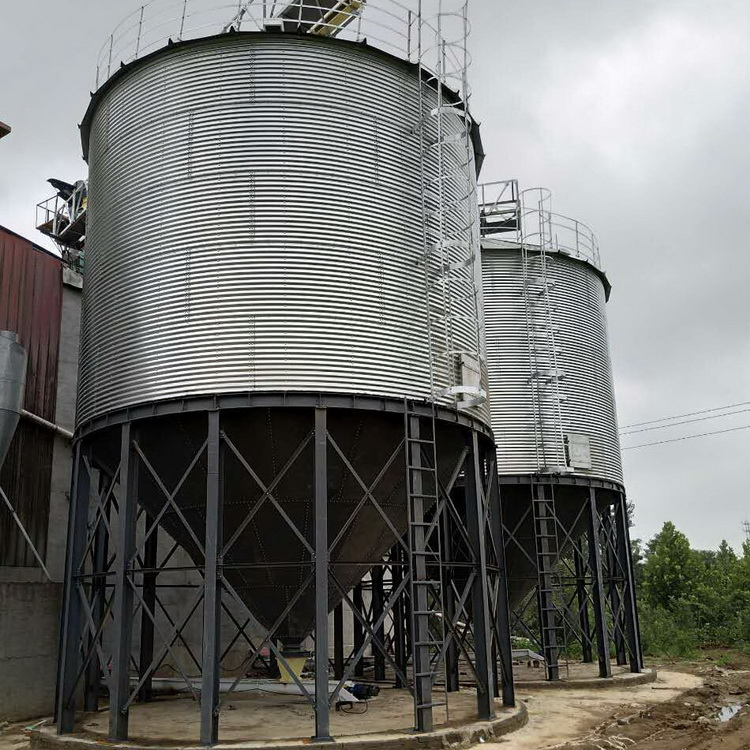 The best price 3000ton hot-galvanized steel silo selling on competitive price