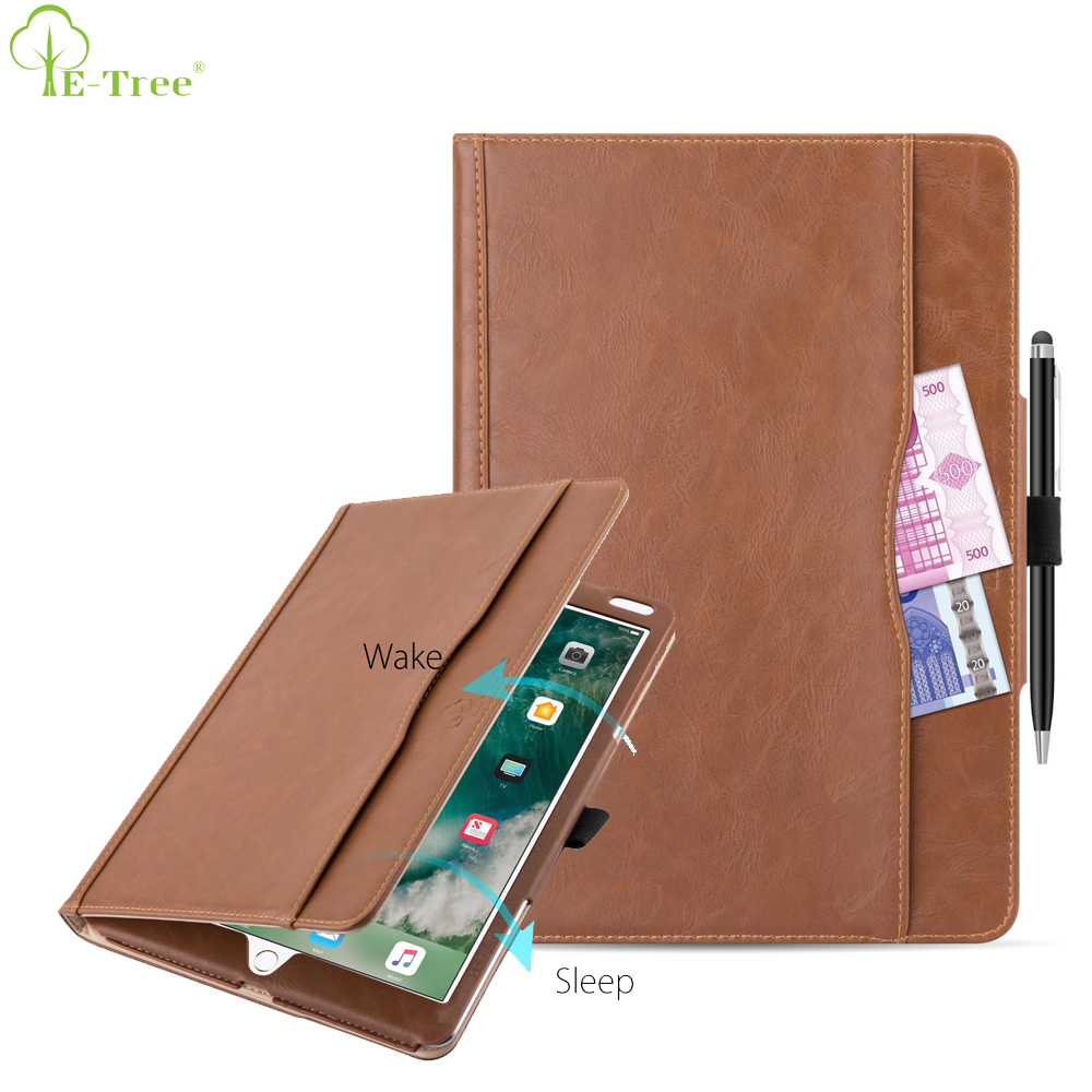For iPad Case, Auto Sleep Wake Suede PU Flip Foldable Leather Tablet Case For iPad Pro, Folio Stand Cover For iPad