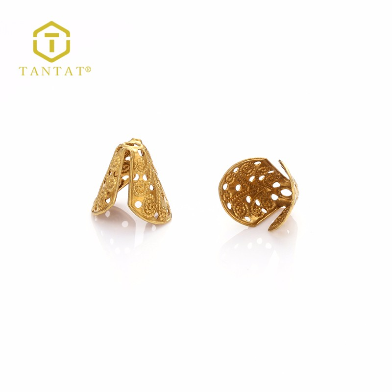 Wholesale Tantat DIY Jewelry findings brass bead caps