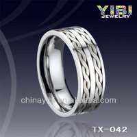 Wedding rings,Tungsten rings with silver inlay ,jaipur silver jewelry
