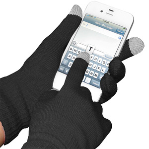 Winter warm thick Wool Lined knitted touch screen Texting glove for Smartphones carplay
