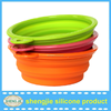 High quality collapsible dog bowl food travel silicone dog bowl