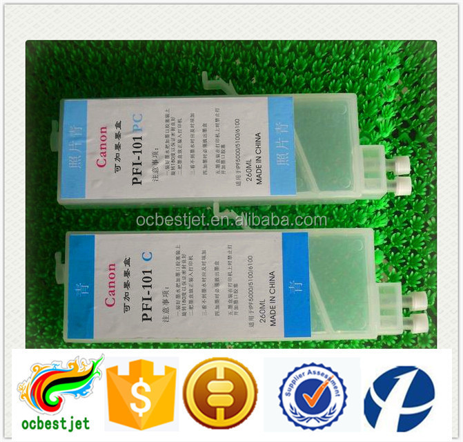 wholesale price refillable ink cartridge for canon ipf 6410 printer empty cartridge 260ml 12 color