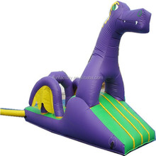 5m Purple flying dragon inflatable obstacles game for indoor playground