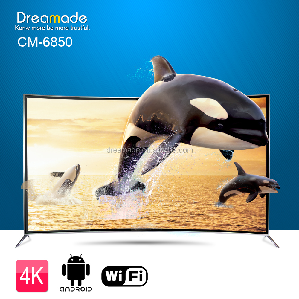 fashion design hot selling full uhd tv curved