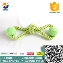 Healthy material green dog rope toy dog toy for chewing