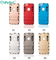 2 in 1 hybrid armor case for iPhone with stand case for all model