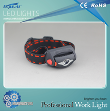 Good selling 3 AAA led head light with IP65