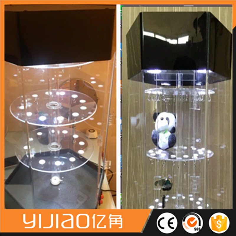 Height 700mm Clear acrylic led lighting electric rotating display stand