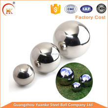 Decoration 50.8mm high polished 201/304 stainless steel hollow float balls for display