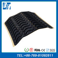 High Quality Anti Skidding Custom Adhesive Crescent Silicone Rubber Pad Foot Pads