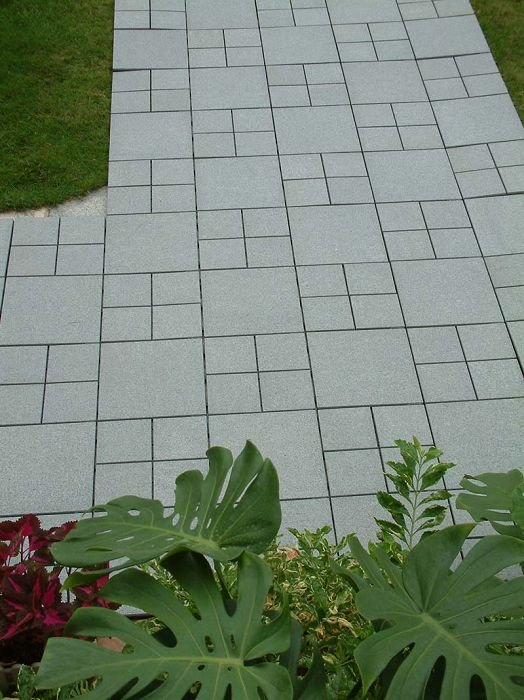 gardening products free installation DIY outdoor interlocking granite flooring tile