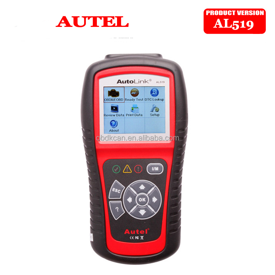 100% Original Best Quality Autel AL519 Auto Scanner AL-519 OBDII/CAN SCAN TOOL Autel AL 519 Diagnostic Tool Free Update