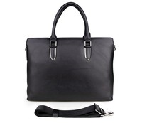 7274A J.M.D Soft Black Genuine Leather Office Work Business Bags For Men