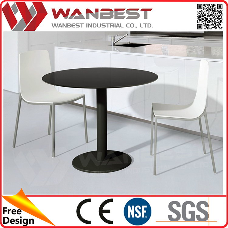 Cost price latest marble paper top dining table