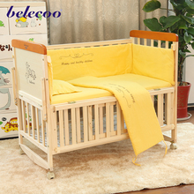 belecoo wooden baby bed designs baby swing cot baby crib attached bed with EN1888