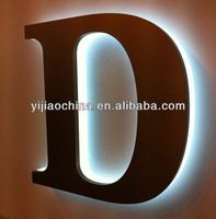 Customized waterproof anti-rust back lit small metal sign letters