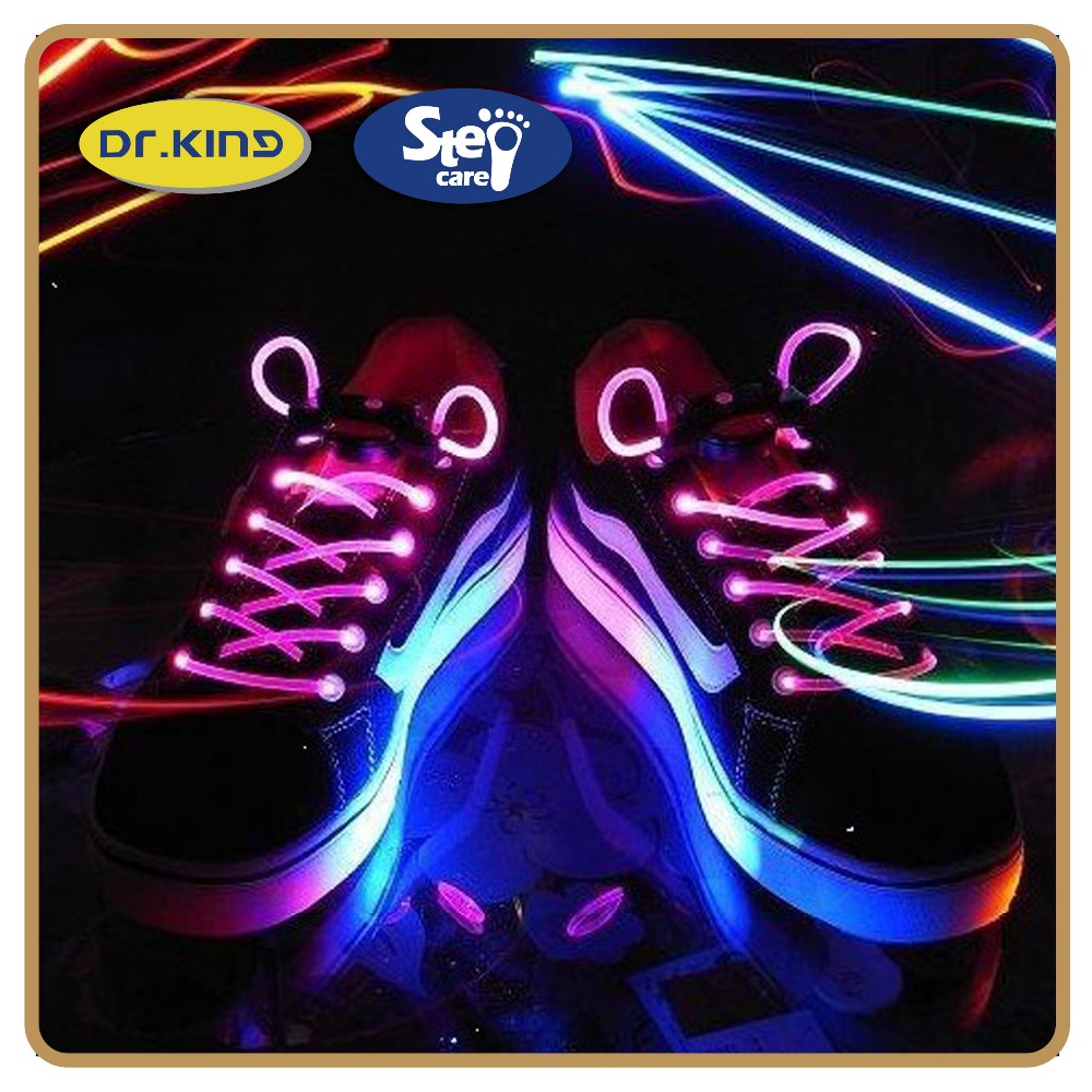 Fitness colored sport plastic custom light up shoe laces