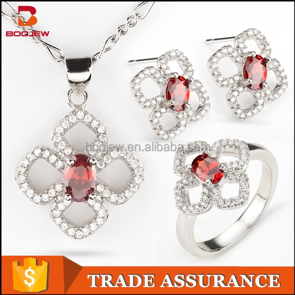Wholesale hot sales women jewelry set heavy indian fashion design AAA zircon bridal wedding jewelry sets