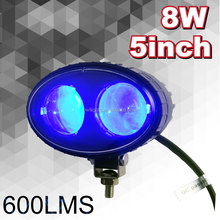 "automobiles spare parts High Spot Blue Light 5.5"" 8w 12v Forklift LED Work Light Motocycle 8w Oval Forklift Headlight"
