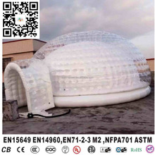 Commercial round white exhibition inflatable dome tent