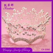 Most popular full circle pearl and rhinestone bridal tiaras and crowns wedding