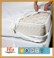 PU/TPU Laminated Knitted Waterproof And Bed Bug Proof Mattress Cover With Zipper