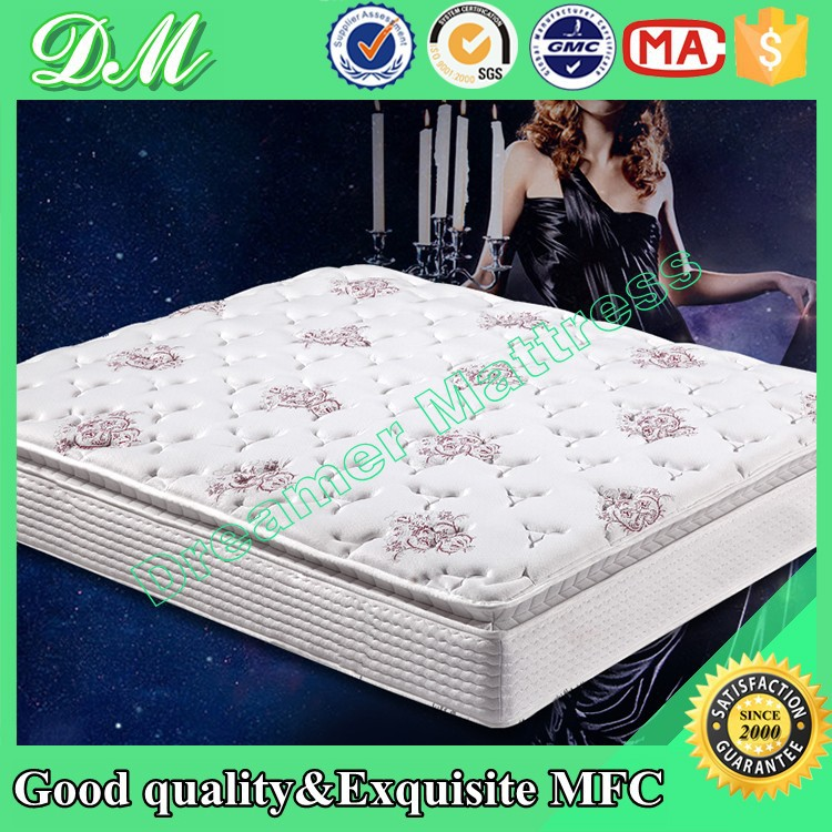King/queen/full size PU foam scrap pocket spring mattress