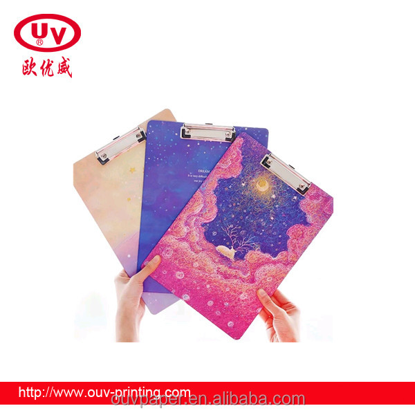 Customized stationery cardboard binder with iron