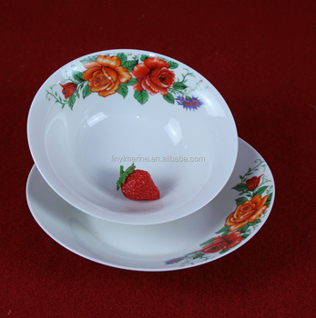 Kitchenware printing decorated ceramic bowl