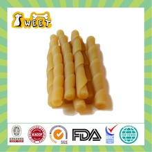 Edible Chewy Food No-Rawhide Twisted Stick Natural Grain Free Dog Dental Treat for Dogs All Sizes