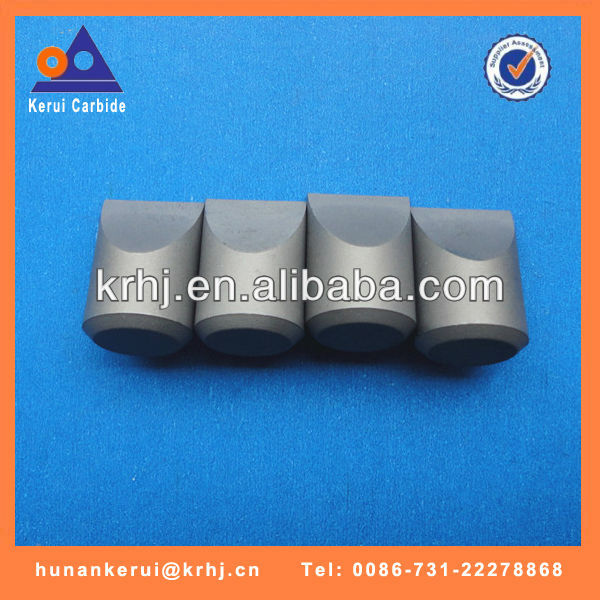 Tungsten carbide drill bit inserts for coal mining