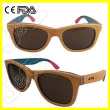 2014 Newest OEM Skateboard Wooden and bamboo Sunglasses with polarized lens