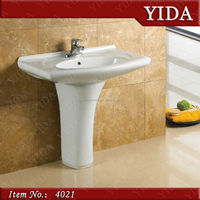 saso certificate small corner wash basin sink_middle east pedestal basin_hand wash basin