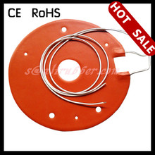 110V Silicone Rubber Heater Heating Mat With Thermostat For Glass