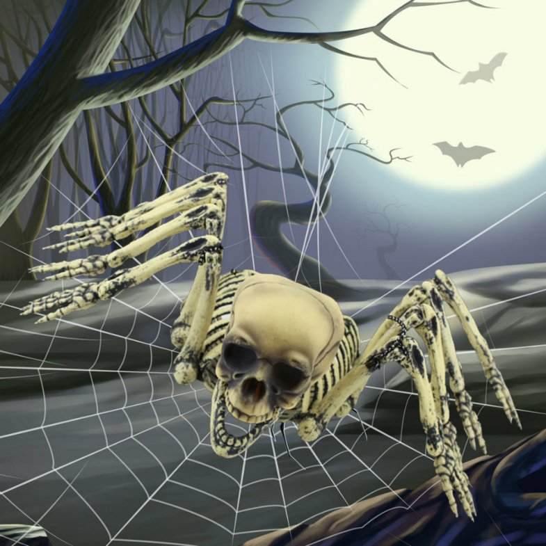 Halloween Creative Bloodthirsty Skeleton Monster Giant Spooky Hanging Spider Ghost Town House <strong>Decor</strong>