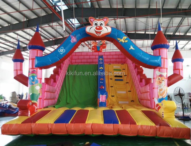 2017 New products cheap giant inflatable slides for sale, inflatable bouncer slide for kids