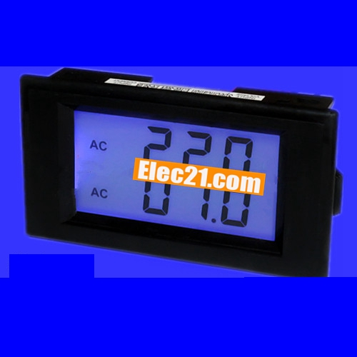 Blue LCD Dual Display Digital voltmeter ammeter AC80.0-300V AC 0-100A Voltage Ampere Current Panel Meter