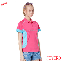 new design girls colorful polo shirt