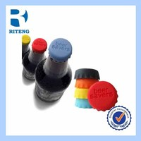 cheap promotional novelty silicone rubber whiskywine glass/bottle stopper/plug/cap