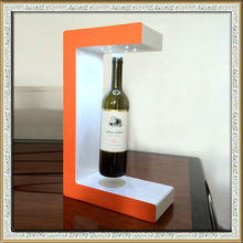 magnetic levitating display,magnetic floating display stand for wine, acrylic led magnet levitating bottle display stand
