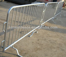 Galvanized Interlocking Removable Fence Base Crowd Control Barrier