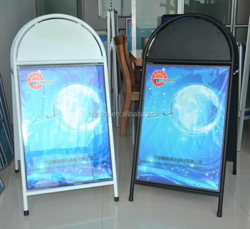 steel a board poster stand with magnetic strip