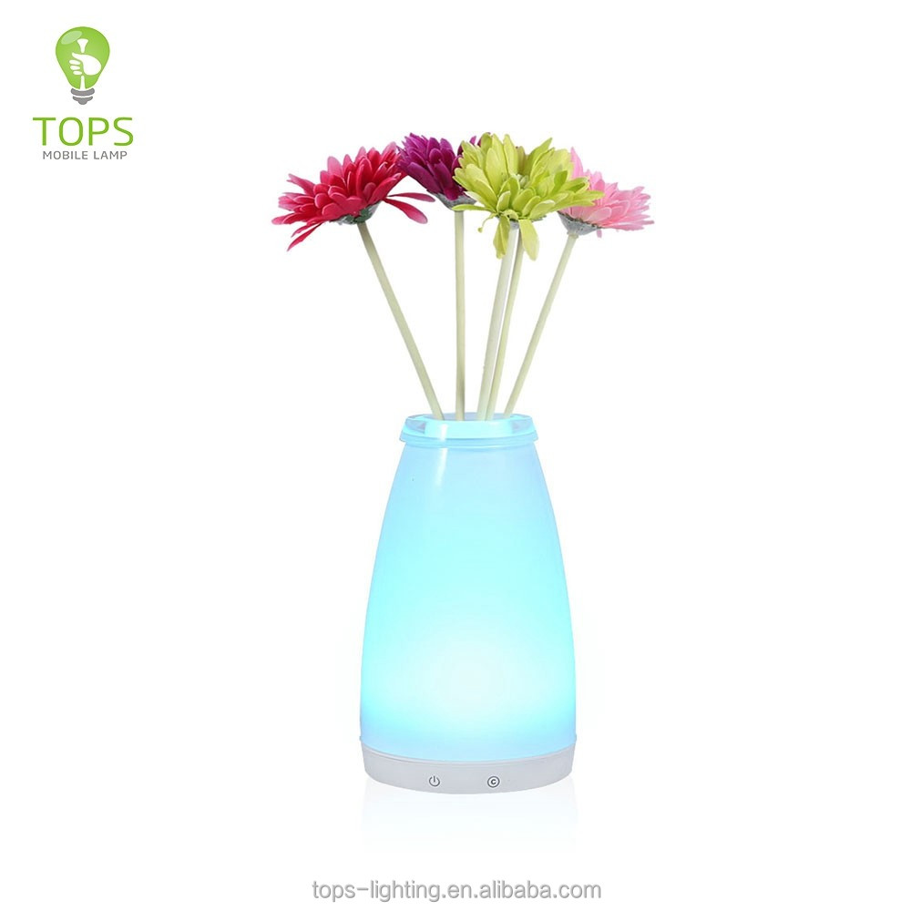 Trade assurance supplier RGB smart vase under table light