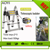 AOYI building tools portable aluminum ladder automatic attic stairs