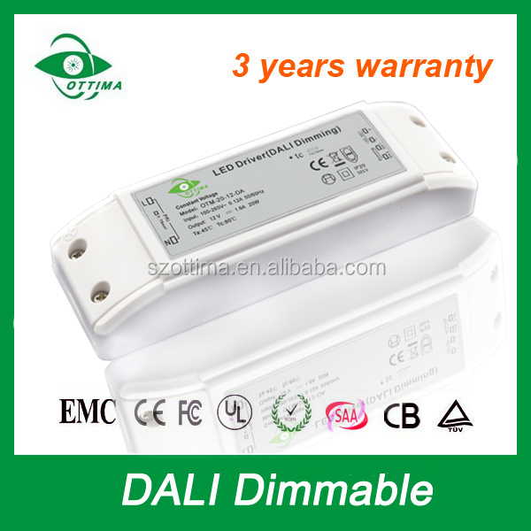 Top level IP20 45w 900mA constant current Dali dimmable led driver