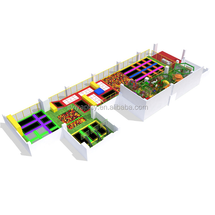 Professional Factory Sports Games soft play equipment huge trampoline park