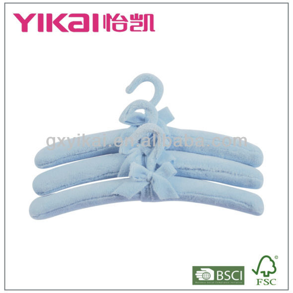 Soft fabric padded clothes hangers