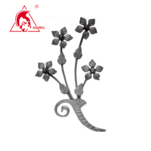 wrought iron spearhead, forged iron spear